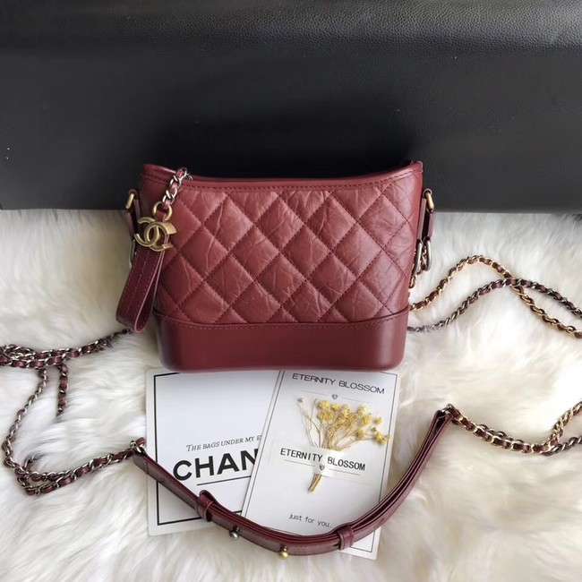 CHANEL GABRIELLE Original Small Hobo Bag A91810 fuchsia