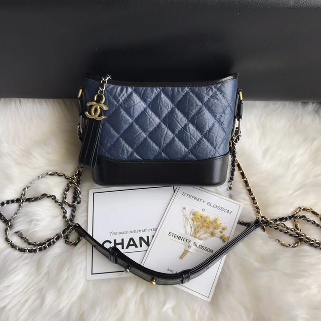 CHANEL GABRIELLE Original Small Hobo Bag A91810 black&blue
