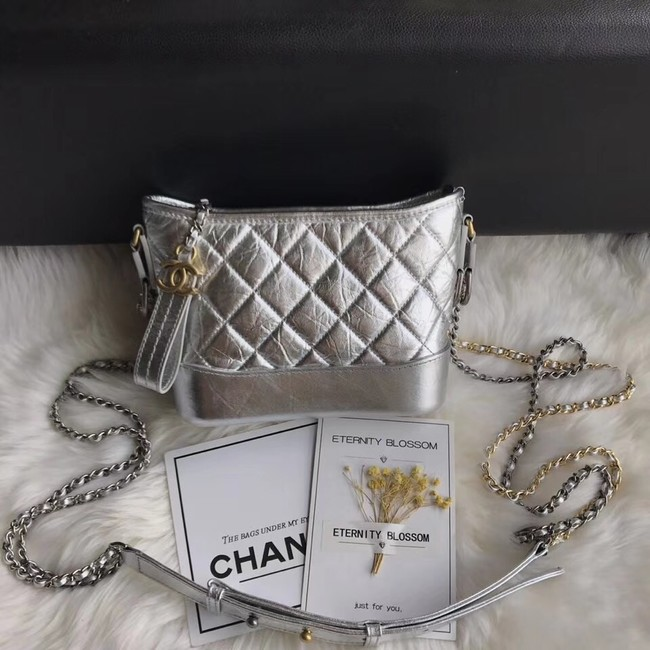 CHANEL GABRIELLE Original Small Hobo Bag A91810 Silver