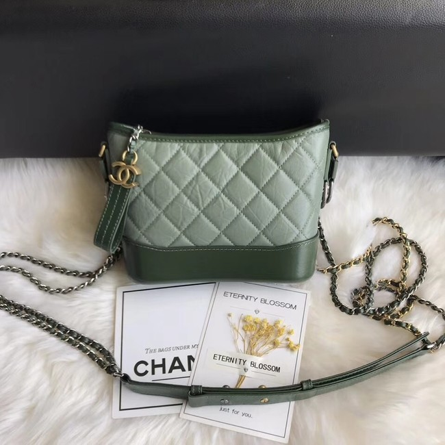 CHANEL GABRIELLE Original Small Hobo Bag A91810 green