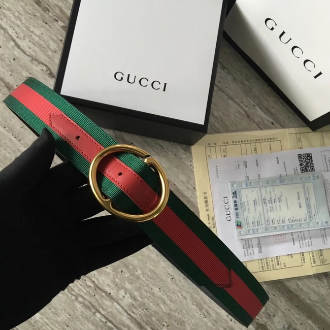 Gucci Web belt G25511 Red & green