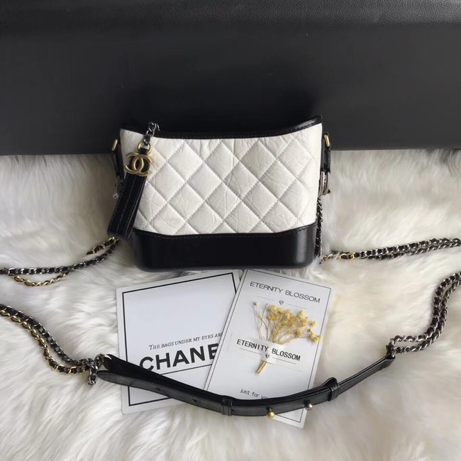 CHANEL GABRIELLE Original Small Hobo Bag A91810 white&black
