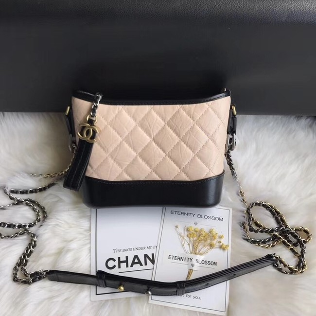 CHANEL GABRIELLE Original Small Hobo Bag A91810 black&apricot