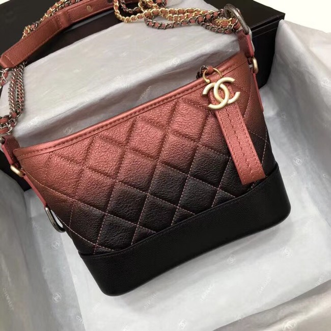 CHANEL GABRIELLE Small Hobo Bag A91810 red&black