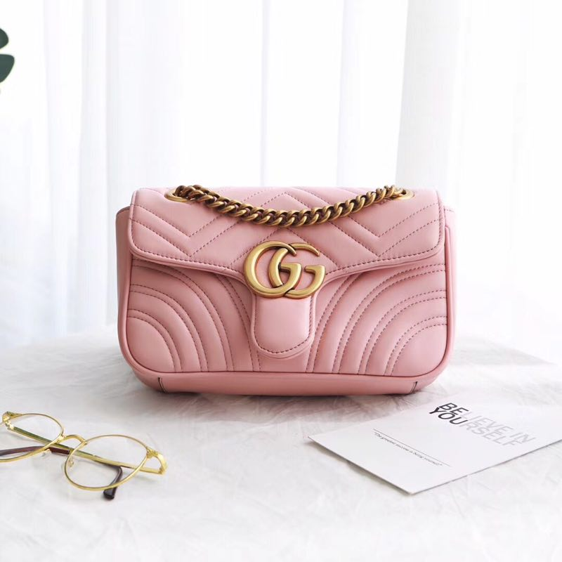 Gucci GG NOW Shoulder Bag 446744 light pink