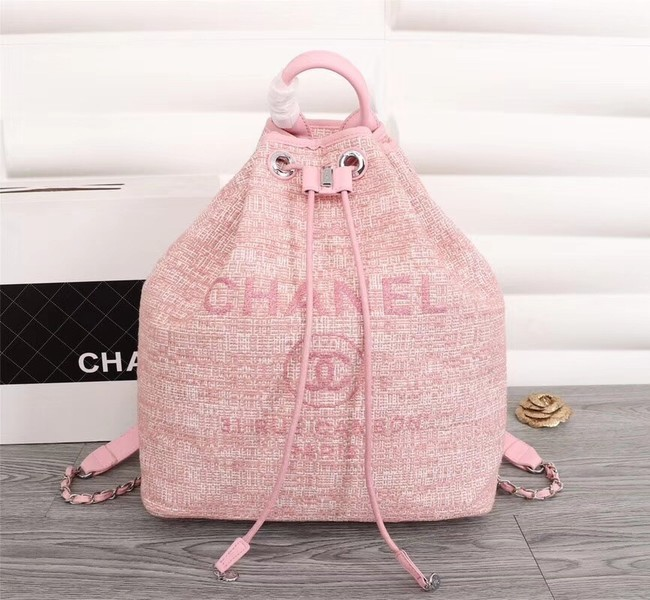 Chanel Canvas Backpack A57498 pink