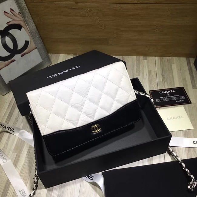 CHANEL GABRIELLE Clutch with Chain A33814 white
