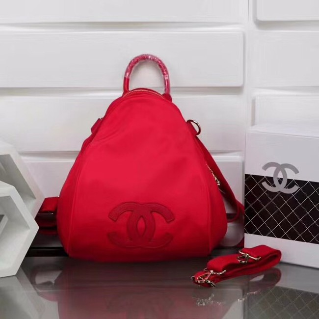 Chanel nylon Backpack A696814 red