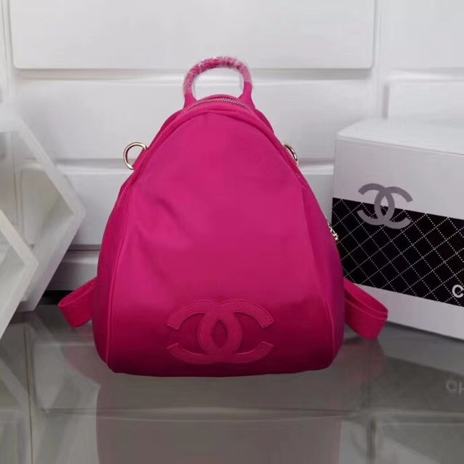 Chanel nylon Backpack A696814 rose