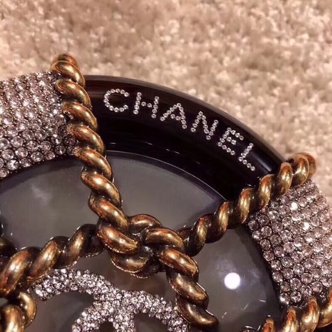 Chanel Original Minaudiere Resin Strass & Gold-Tone Metal A94672 Black