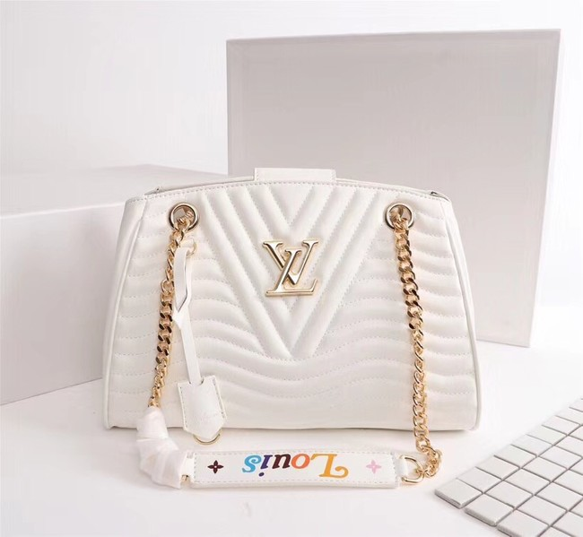 LOUIS VUITTON Leather M51497 white
