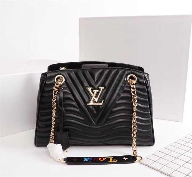 LOUIS VUITTON Leather M51497 black