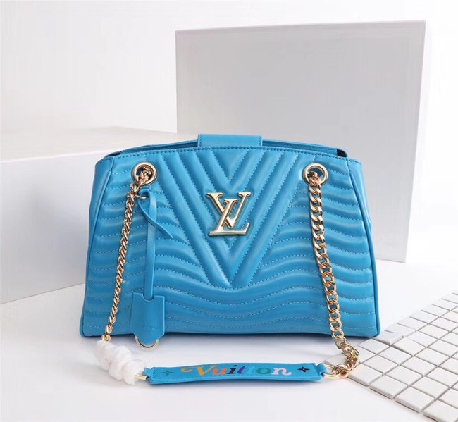 LOUIS VUITTON Leather M51497 Light blue