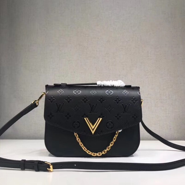 Louis Vuitton original VERY MESSENGER leather M53382 black