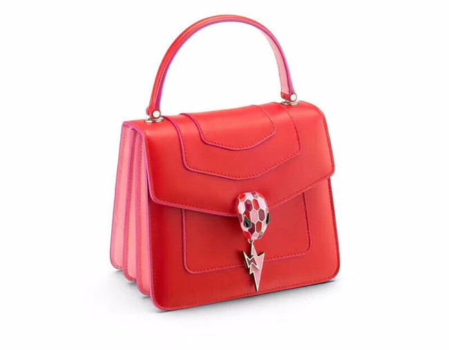 BVLGARI Serpenti Forever leather flap bag 286999 red