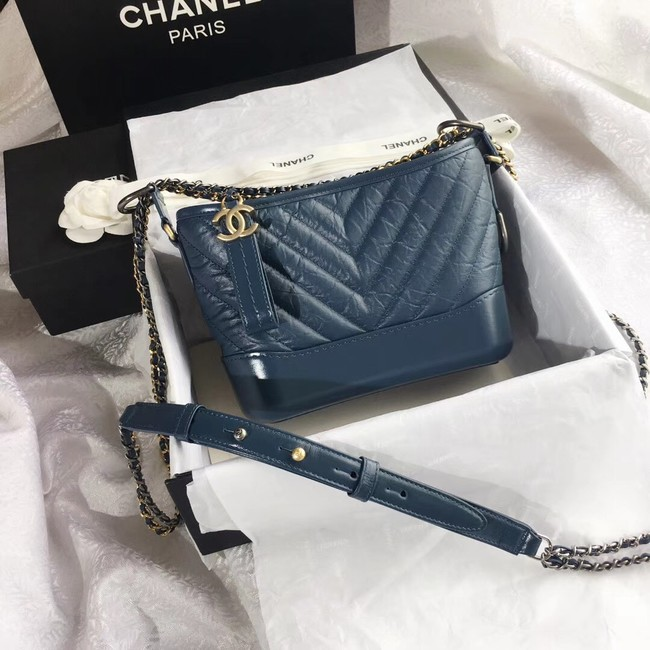 CHANEL GABRIELLE Original Small Hobo Bag A91810 Blue