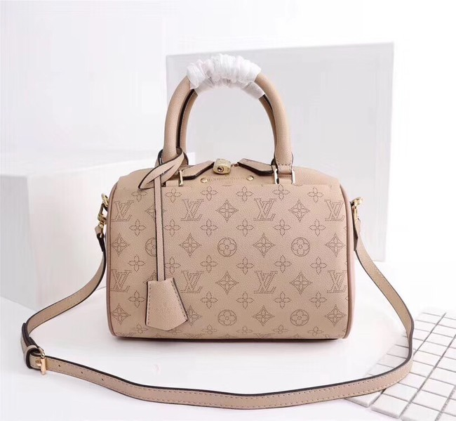 Louis Vuitton Mahina Leather SPEEDY BANDOULIERE 30 M40431 apricot