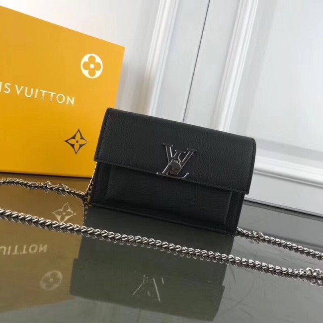 Louis Vuitton MYLOCKME BB CHAIN LOUISE M63471 black