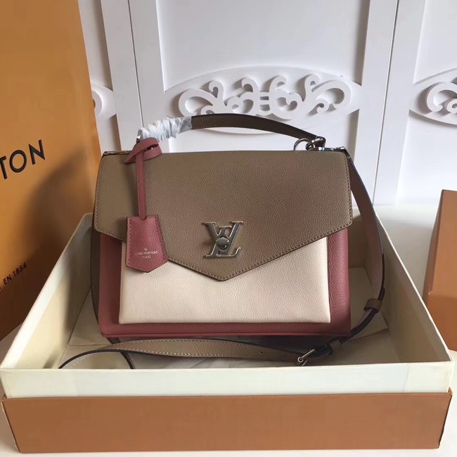 Louis vuitton original MY LOCKME M54849 Galet&white