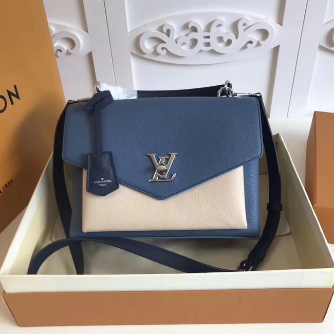 Louis vuitton original MY LOCKME M54849 blue&white