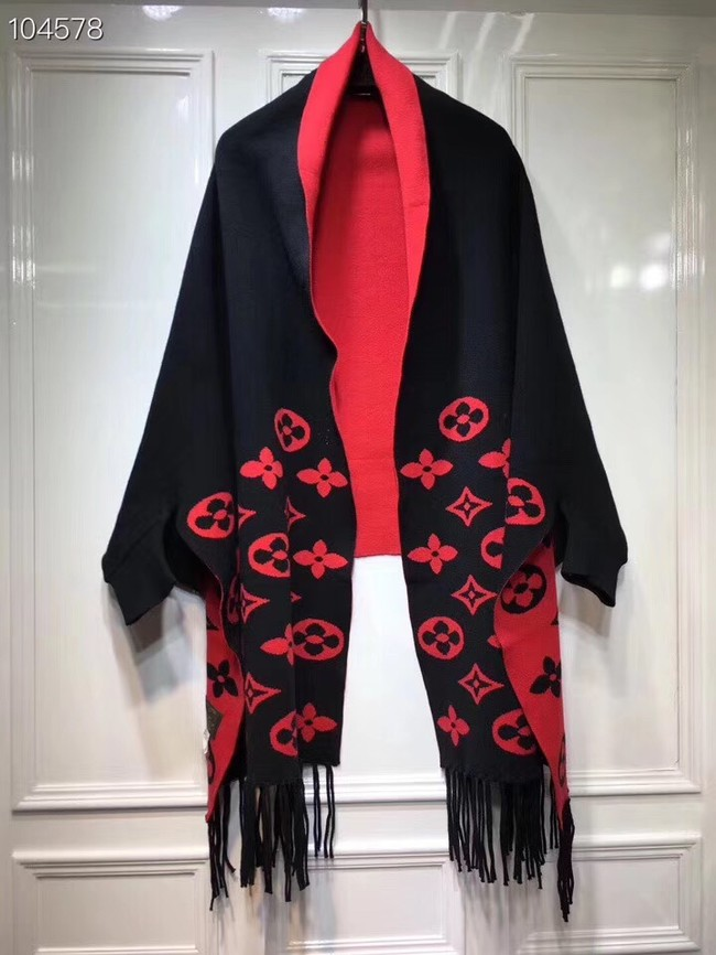 Louis vuitton lambswool Shawl 71150 black