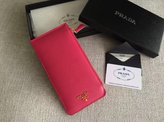 Prada Saffiano Leather Business Card Holder 1M1213 rose