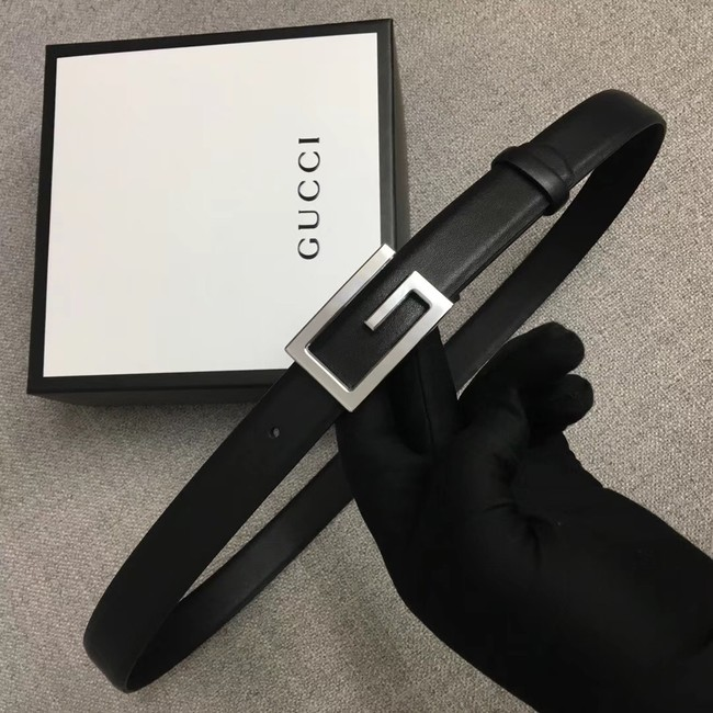 Gucci Leather belt with G buckle 523305 black