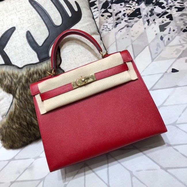 Hermes original Kelly Epsom Leather KL32 red