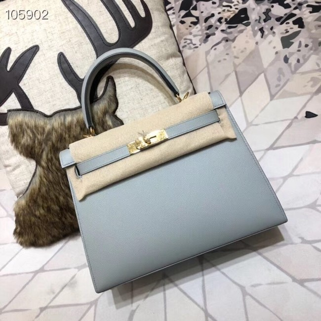 Hermes original Kelly Epsom Leather KL32 light blue