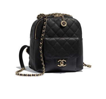 Chanel Grained Calfskin & Gold-Tone Metal backpack AS0004 black