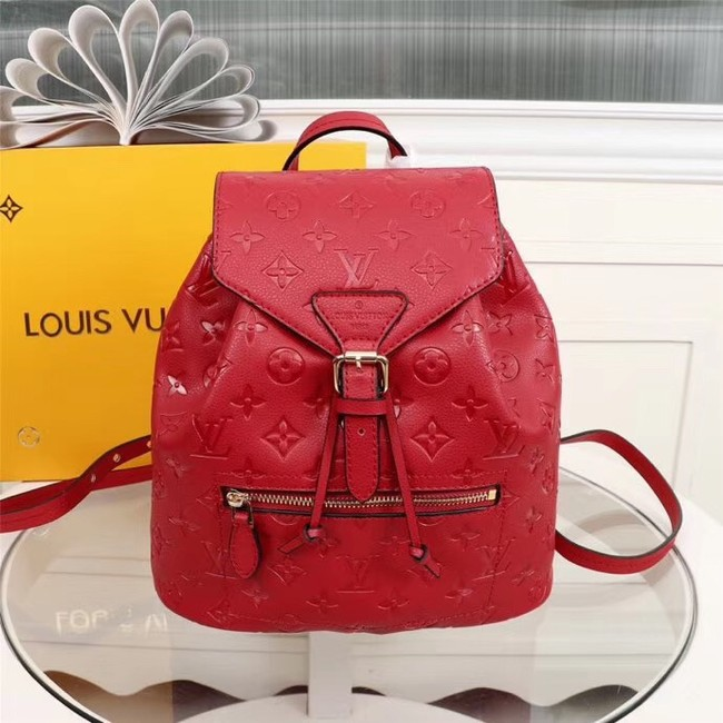 Louis Vuitton Monogram Empreinte Calf Leather Backpack M43431 red