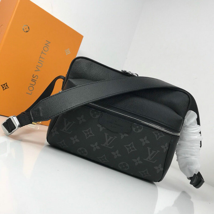 Louis Vuitton Monogram Canvas Messenger PM Black M43845