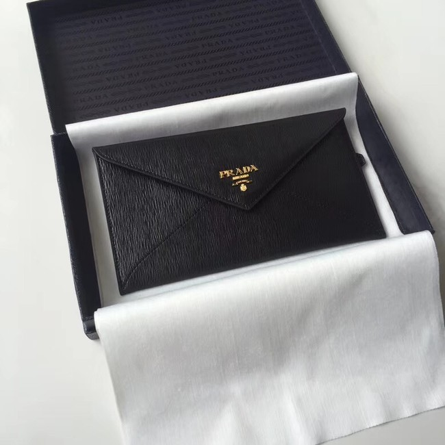 Prada Saffiano leather document holder 1MF175 black