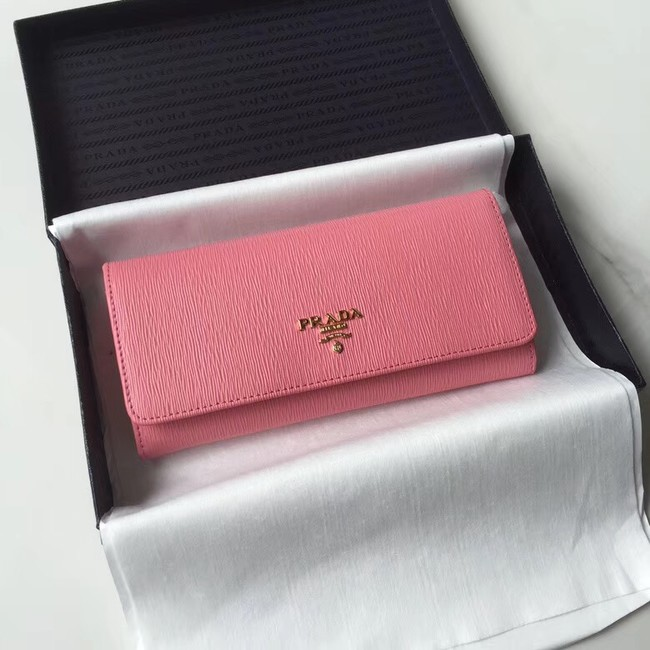 Prada Leather Wallet 1MH132 pink