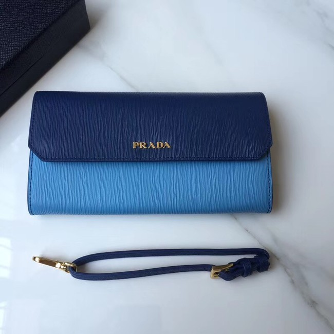 Prada leather mini-bag 1DF003 blue