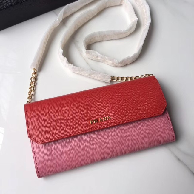 Prada leather mini-bag 1DH002 red