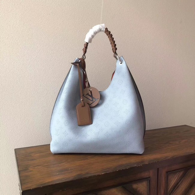 Louis Vuitton original CARMEL M53188 BLEU HORIZON PUMPKIN