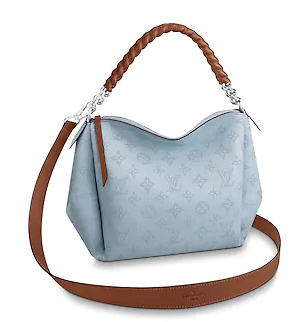 Louis Vuitton original Mahina Leather BABYLONE CHAIN BB M53153 BLEU HORIZON PUMPKIN