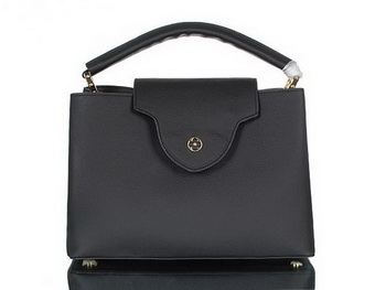 Louis Vuitton Elegant Capucines Bag MM M48868 Black