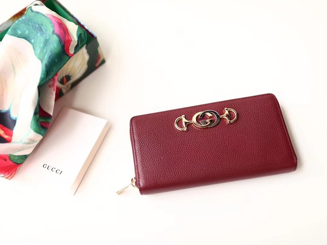 Gucci Zumi Wallet 570661 red