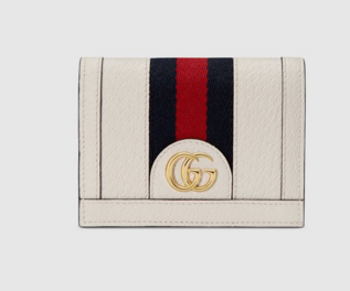 Gucci Ophidia leather wallet 523155 white