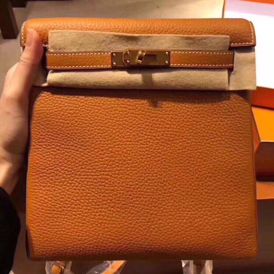 Hermes Kelly Ado Backpack H2398 Orange