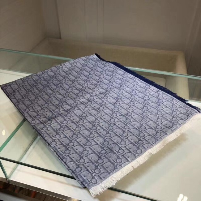 DIOR OBLIQUE STOLE IN WOOL AND CASHMERE C346