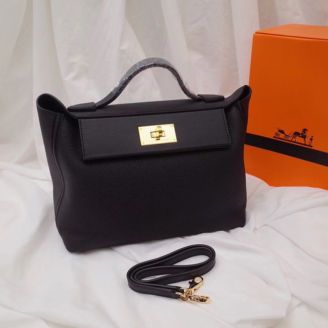 Hermes Kelly togo Leather Tote Bag H2424 black