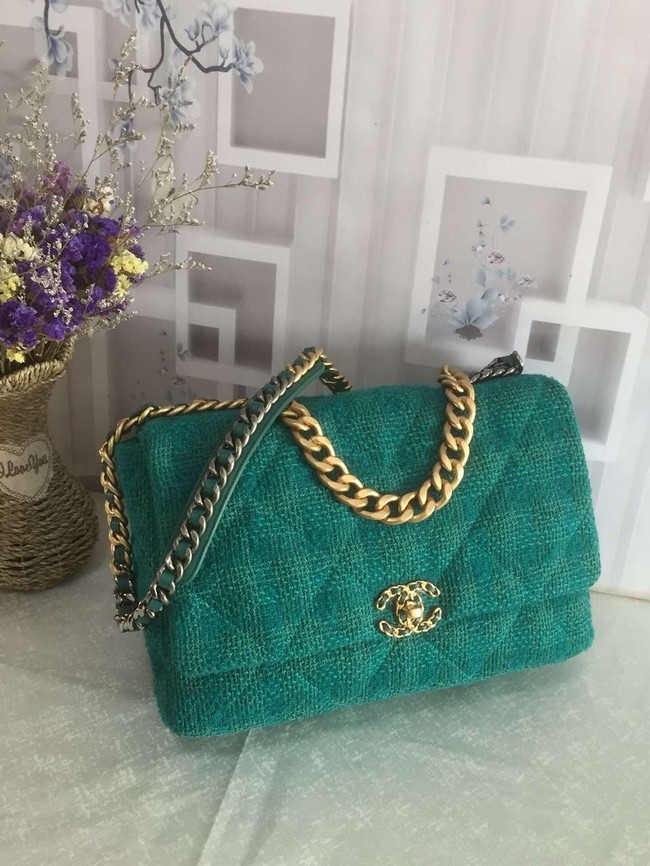 CHANEL 19 Flap Bag AS1162 green