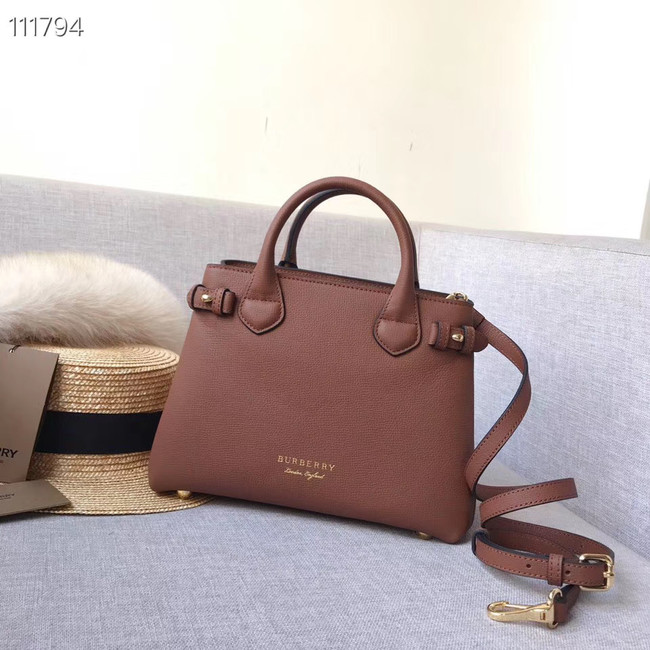 BurBerry Leather Tote Bag 7461 brown
