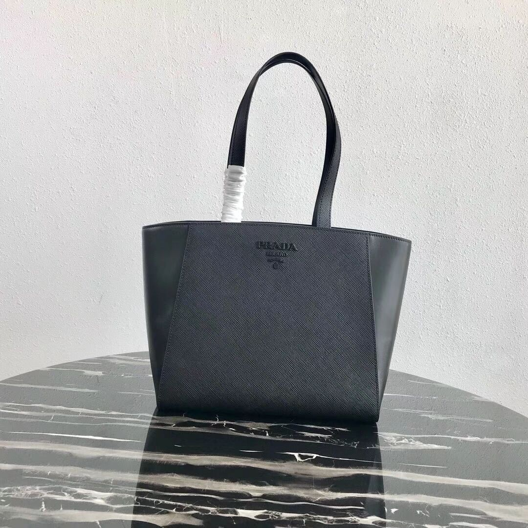 Prada Embleme Saffiano leather bag 1BG288 black