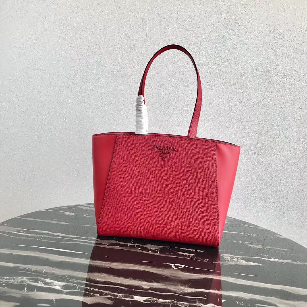 Prada Embleme Saffiano leather bag 1BG288 red