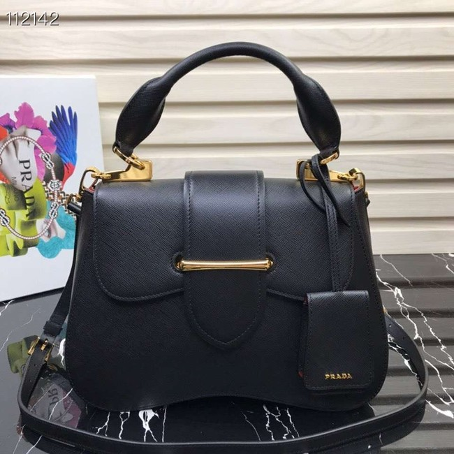 Prada Embleme Saffiano leather bag 1BN005 black