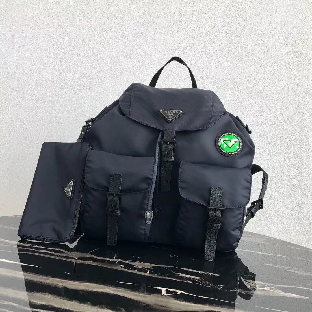 Prada Re-Nylon backpack 1BZ811 black&green
